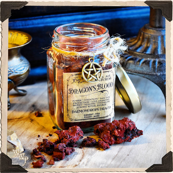 DRAGON'S BLOOD RESIN APOTHECARY. All Natural Incense. For Manifestation & Spell Power.