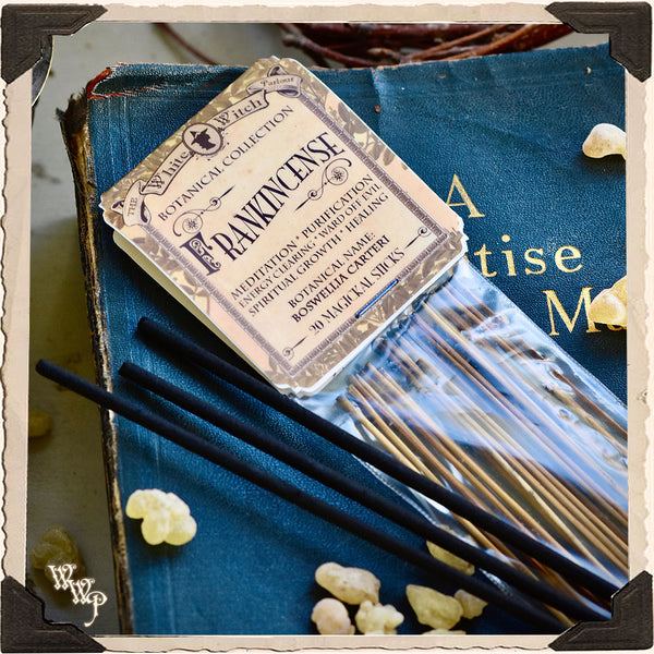 FRANKINCENSE INCENSE 20 Stick Pack. Single-Note Botanical. For Illumination, Consecration & Meditation.