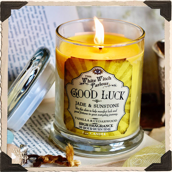 GOOD LUCK Elixir Apothecary CANDLE 7oz. For Good Fortune, Positivity & Raising Vibrations.