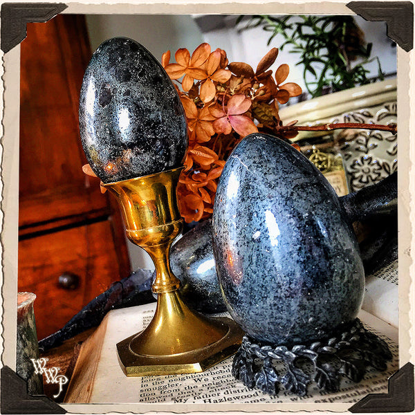 HEMATITE POLISHED EGG. For Balance, Emotional Stability & Grounding.