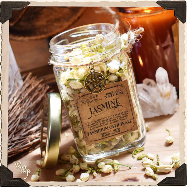 JASMINE FLOWER APOTHERCARY. Dried Herb For Love, Meditation & Enlightenment.