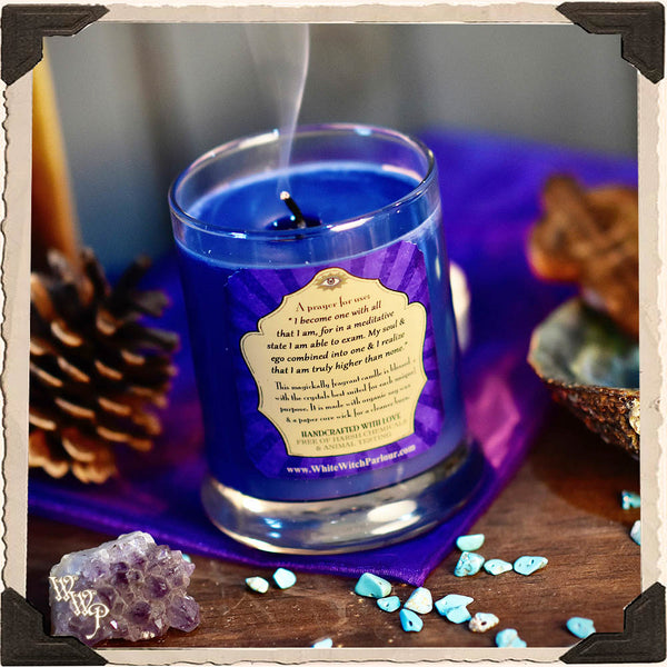 MEDITATION Elixir Apothecary CANDLE 7oz. For Wisdom, Peace & Spiritual Enlightenment.