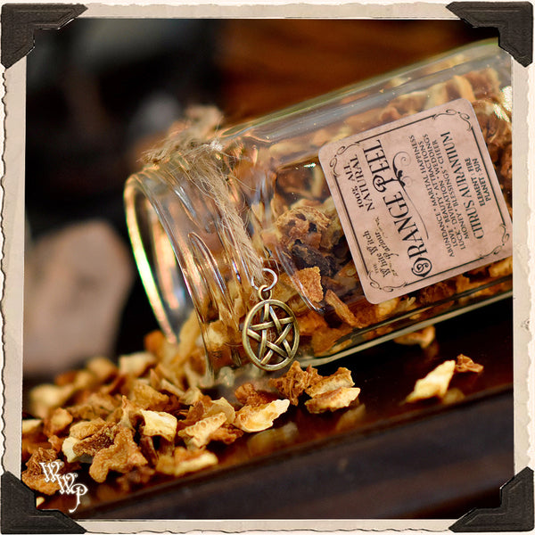 ORANGE PEEL APOTHECARY. Dried Herbs. For Abundance, Cheer, Renewal & Attractions