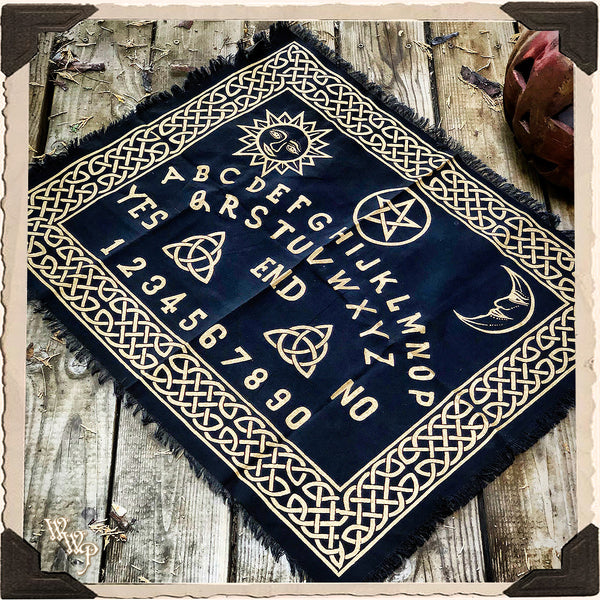 OUIJA ALTAR CLOTH SCRYING MAT. For Divination, Channeling & Spiritual Insight.