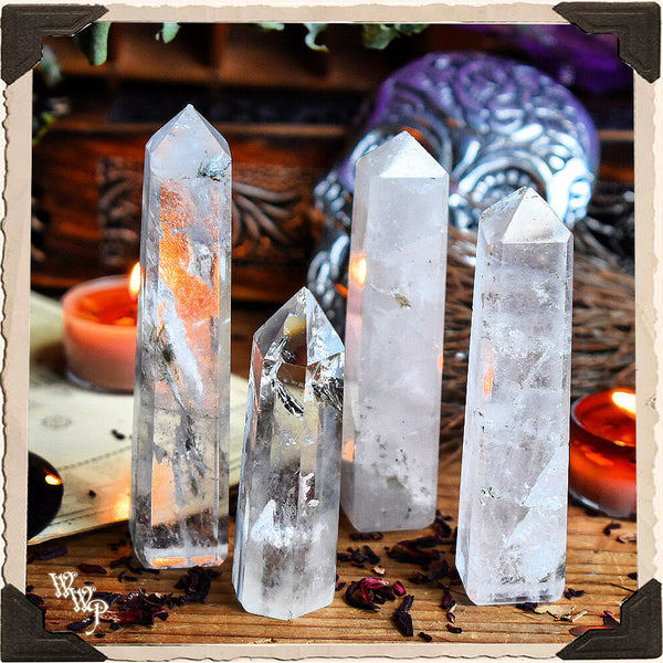 CLEAR QUARTZ OBELISK CRYSTAL. For Energy Amplification, Power & Clarity.