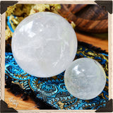 CLEAR QUARTZ SPHERE Crystal. Spiritual Purification & Energy Amplifier. 55mm (Small)