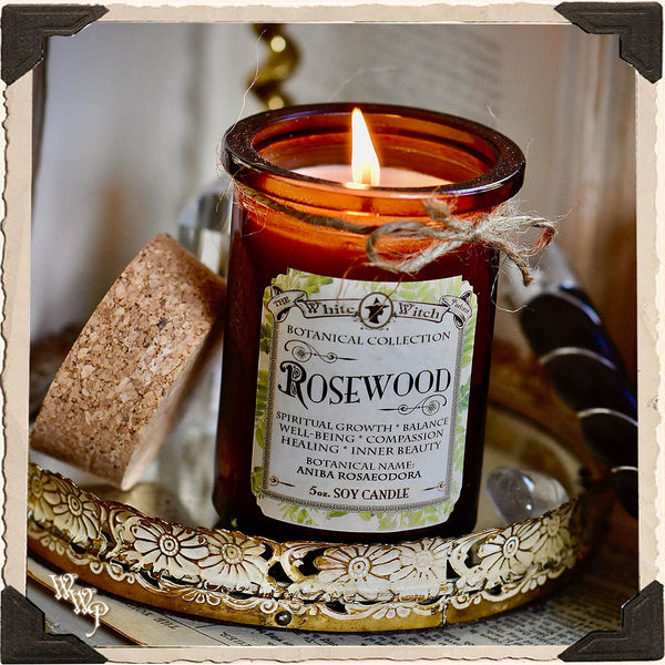 ROSEWOOD CANDLE APOTHECARY 5oz. For Spiritual Healing, Beauty, Truth & Divination.