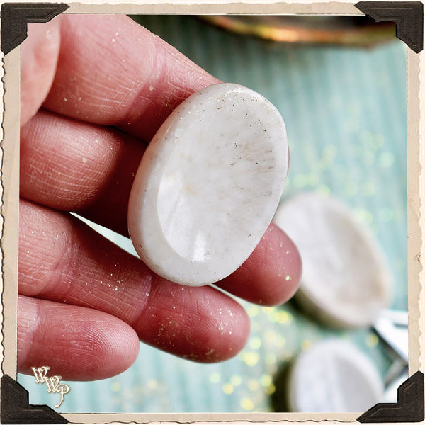 SCOLECITE WORRY STONE For Inner Peace & Spiritual Transformation.