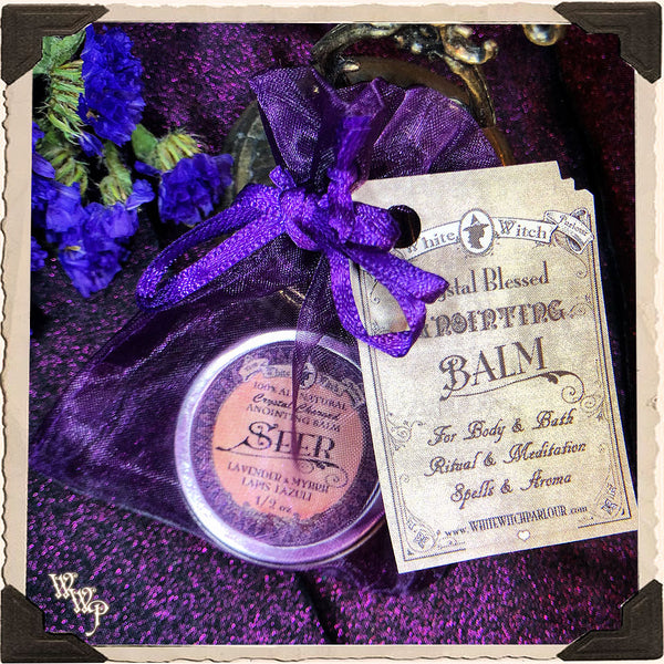 'SEER' 1/2oz. SOLID PERFUME. All Natural Anointing Balm. For Psychic Awareness & Insight.