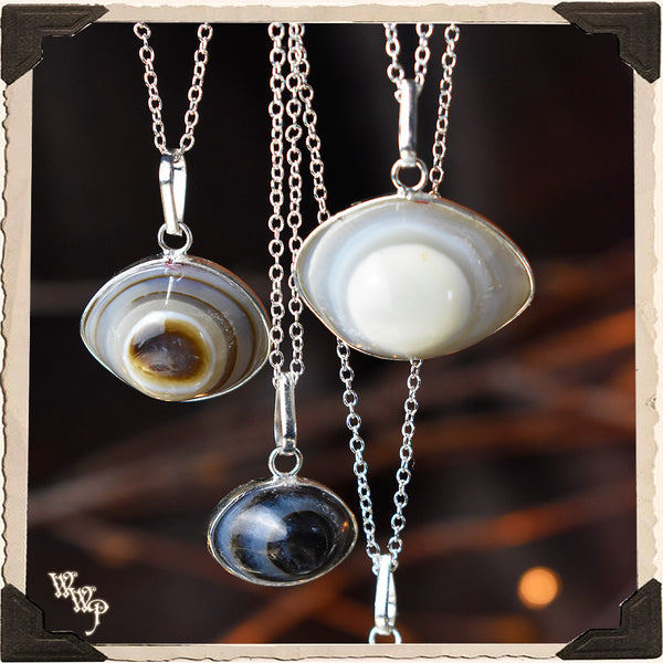 SHIVA'S EYE AGATE TALISMAN NECKLACE. For Spiritual Protection, Rebirth, Awakening.