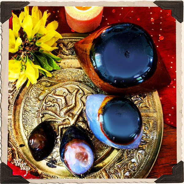 SHIVA'S EYE AGATE  Third Eye Carved Crystal  For Spiritual Protection,  Rebirth, Awakening