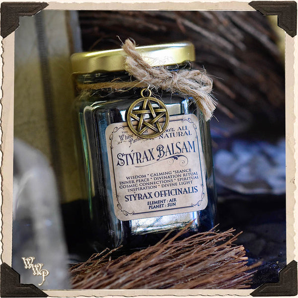 STYRAX BALSAM RESIN APOTHECARY. All Natural Incense. For Spirit Communication, Cosmic Connections & Spirituality