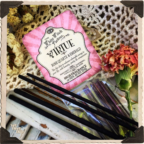 VIRTUE Elixir INCENSE. 20 Stick Pack. For Beauty, Good Faith & Gentleness.