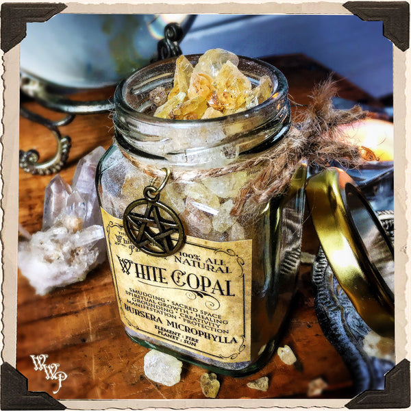 WHITE COPAL RESIN APOTHECARY. All Natural Incense. For Clearing Energy, Creativity & Raising Vibrations.