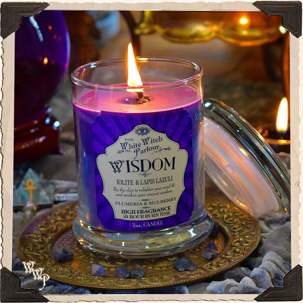 WISDOM Elixir Elixir Apothecary CANDLE 7oz. For Meditation, Ancient Wisdom & Enlightenment.
