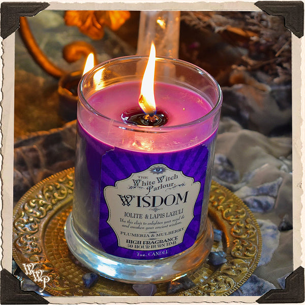 WISDOM Elixir Apothecary CANDLE 7oz. For Meditation, Ancient Wisdom & Enlightenment.