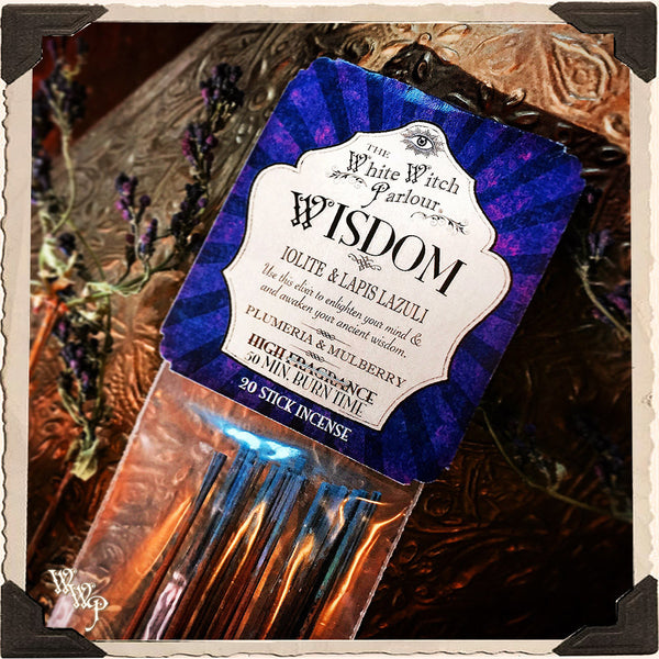 WISDOM Elixir INCENSE. 20 Stick Pack. For Meditation, Channeling, Soul Growth.