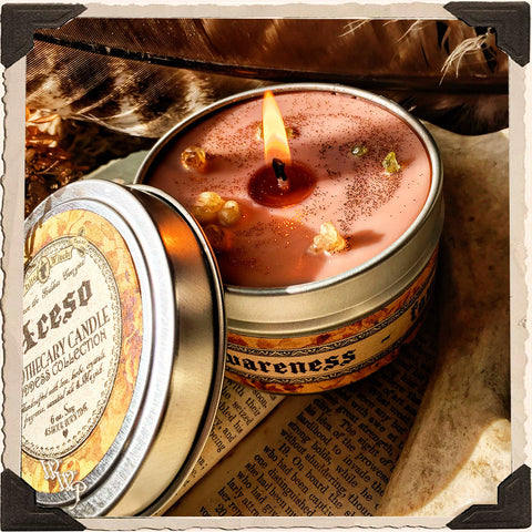 ACESO GODDESS CANDLE. 6 oz. For Comfort, Healing, Awareness, Family, Relief.