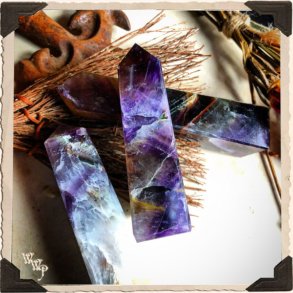 AMETHYST OBELISK POINT CRYSTAL. For Divination, Third Eye & Spiritual Growth