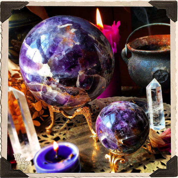 AMETHYST SPHERE CRYSTAL. For Divination, Third Eye & Spiritual Growth