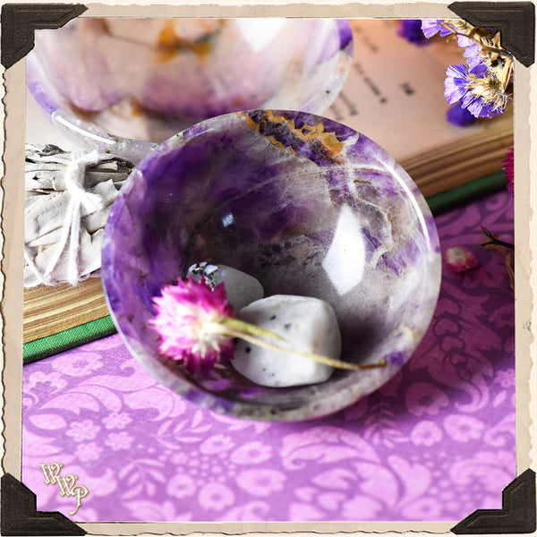 "AMETHYST CRYSTAL BOWL 3"". For Divination & Spiritual Growth."