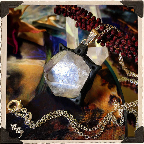APOPHYLLITE POINT NECKLACE. White Magick Crystal Talisman. For Lightwork & Spiritual Awakening