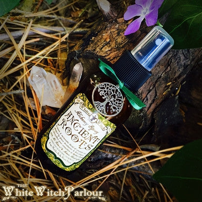 ANCIENT ROOTS All Natural Alchemy Smudge Spray. Cedarwood, Pine, Amber, Patchouli with Red Jasper & Green Aventurine