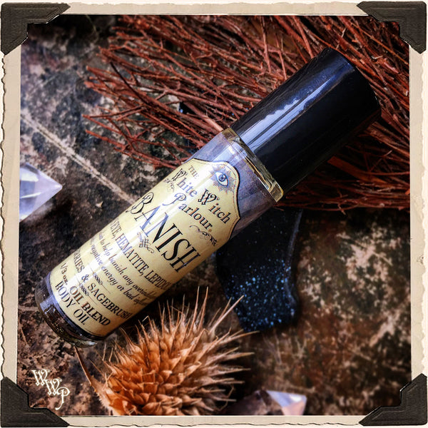 BANISH Elixir 1/3oz Body Oil Rollon. For Removing Hexes, Curses & Negative Energy.
