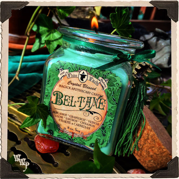BELTANE APOTHECARY CANDLE 8oz.  For May Day, Fertility & Abundance.