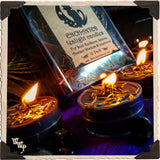 BLACK MOON TEALIGHT CANDLES. 12 Pack. For Soul Guidance, Ancient Wisdom, Seance & Intentions.