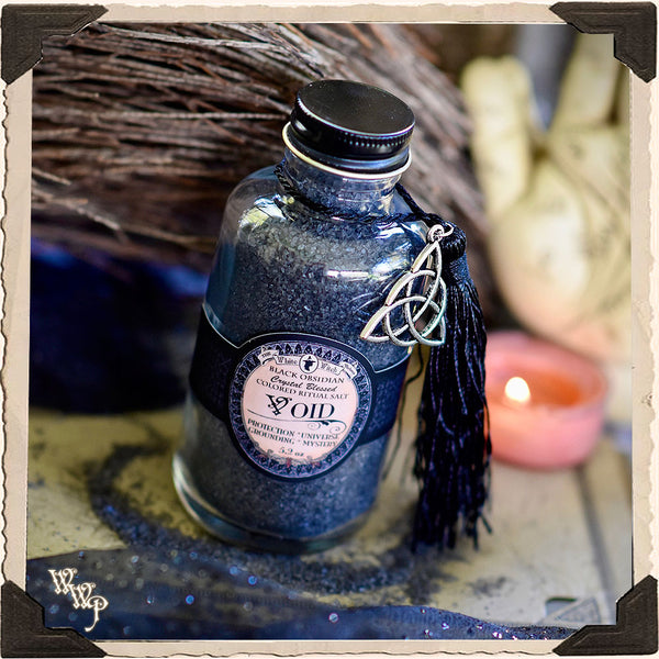 BLACK RITUAL SALT. Void. For Casting Circles, Protection & Grounding.