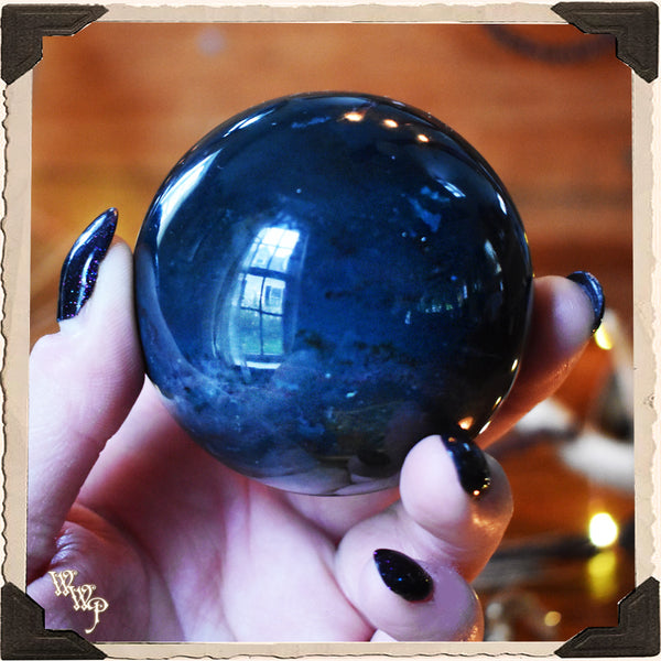 BLOODSTONE SPHERE CRYSTAL. For Grounding, Healing & Generosity.