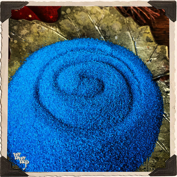 BLUE RITUAL SAND. 4oz. For Incense Burners & Altar Decor.