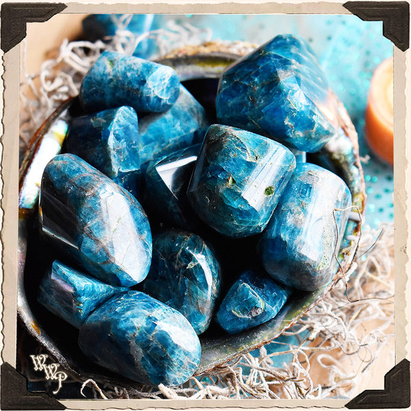 Blue Apatite Tumbled Crystal. For Speaking Your Truth & Manifestation.