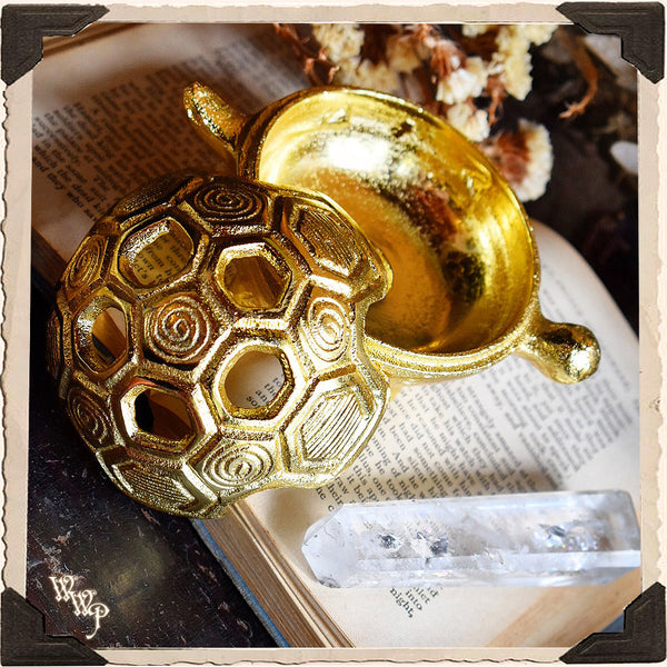 BRASS TURTLE. Altar Decor For Earth Connection, Slowing down & Determination.