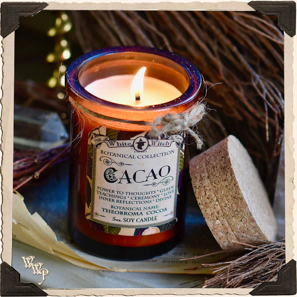 CACAO CANDLE APOTHECARY 5oz. For Divine Connection, Soul Awareness & Passion.