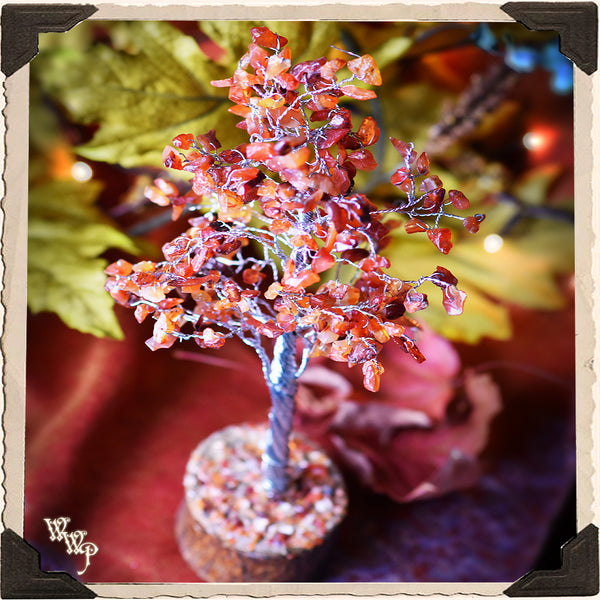 CARNELIAN CRYSTAL TREE. For Positive Energy, Motivation & Courage. Autumn Decor.