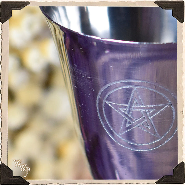 """PENTACLE"" SILVER CHALICE CUP. For Ritual & Ceremony"