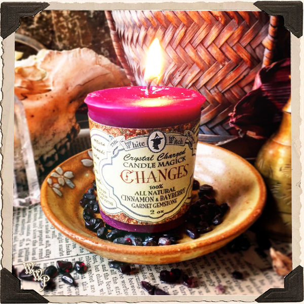 CHANGES VOTIVE CANDLE. For Reversing Spells & Modifying Outcomes.