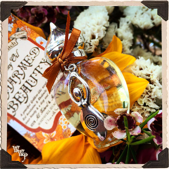 CHARMED BEAUTY. All Natural Alchemy Oil Potion 1/3oz.  For Goddess Energy & Connection to Life.