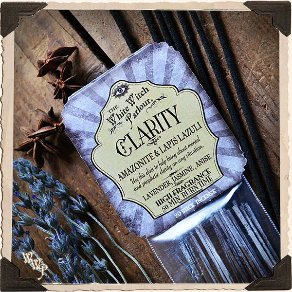 CLARITY Elixir INCENSE 20 Stick Pack. For Bliss, Emotional & Prophetic Clarity.