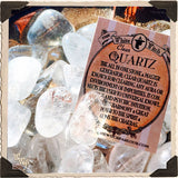 CLEAR QUARTZ TUMBLED CRYSTAL. For Energy Amplification, Power & Clarity.