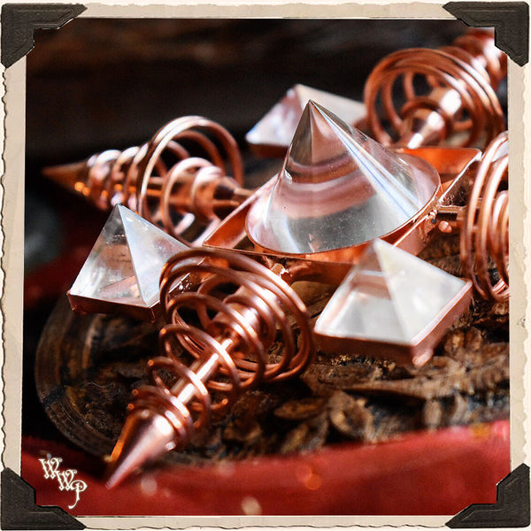 COPPER & QUARTZ CRYSTAL ENERGY GENERATOR. For Reiki Healing & Manifestation.