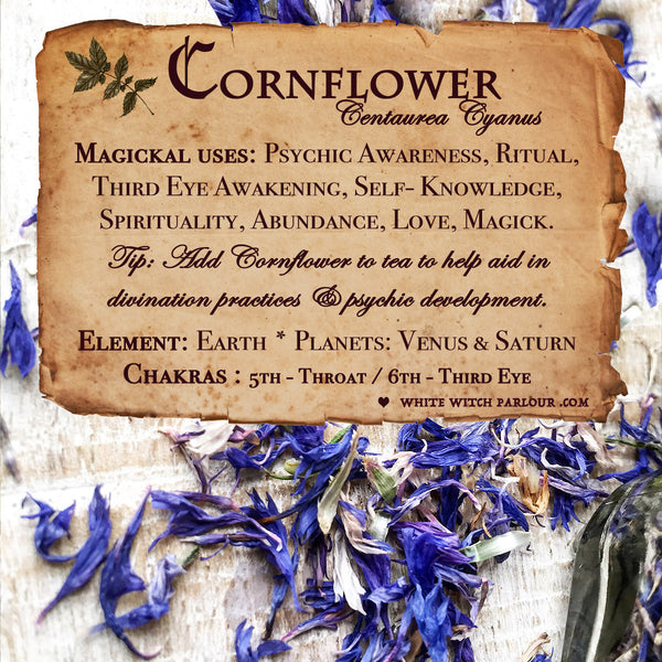 CORNFLOWER APOTHECARY. Dried Herbs. For Psychic Awareness, Self Knowledge, Ritual.