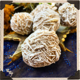DESERT ROSE SELENITE RAW CRYSTAL BALL. For Full Moon, Cleansing, Chakra Alignment.