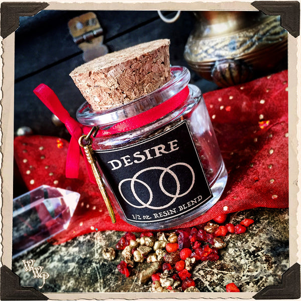 DESIRE INCENSE. All Natural Resin Blend. For Lust, Love, Binding Relationships & Strength.