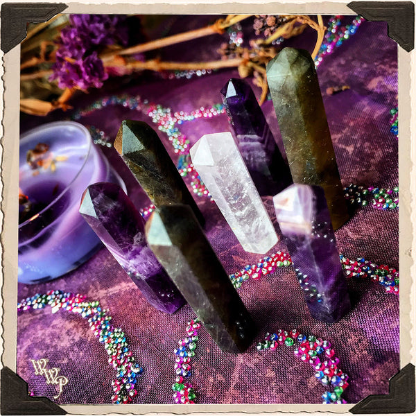 DIVINER Crystal Grid Set. For Third Eye Awakening, Intuition & Psychic Awareness.