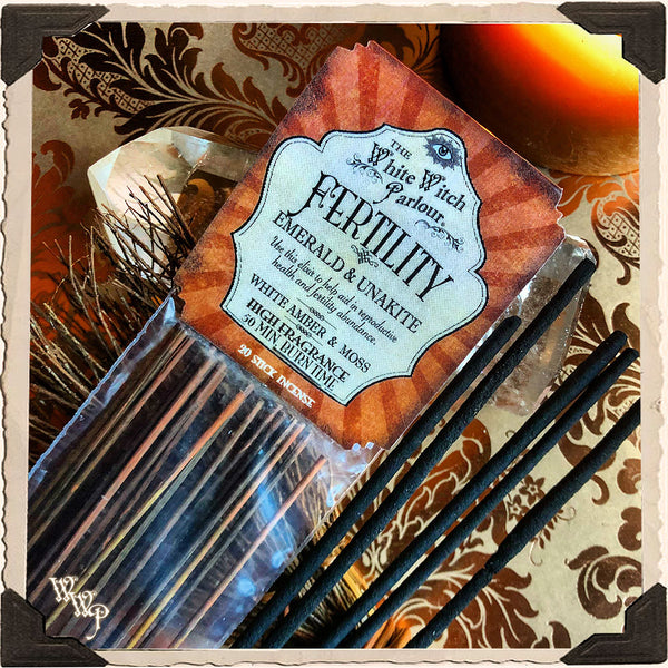 FERTILITY INCENSE. 20 Stick Pack. For Creation, New Beginnings & Abundant Opportunities.