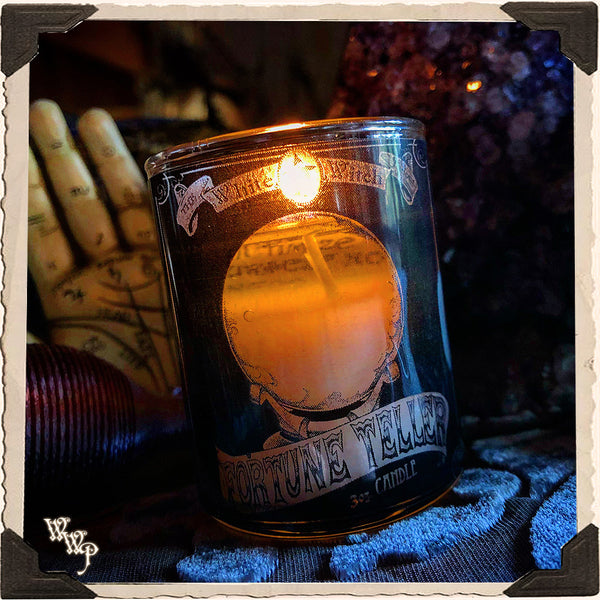 FORTUNE TELLER CANDLE. 3oz. For Psychic Clarity, Life Guidance & Insight.
