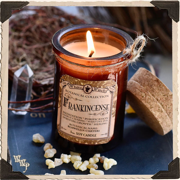 FRANKINCENSE CANDLE APOTHECARY 5oz. For Illumination, Consecration & Meditation.
